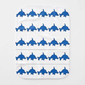 Many Dolphin Dannys Burp Cloth