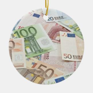Many Euro banknotes Ceramic Ornament