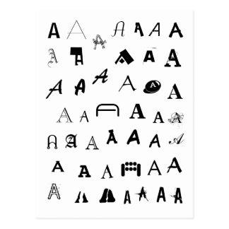 Many Fonts. Your Letter. Custom Monogram Postcard