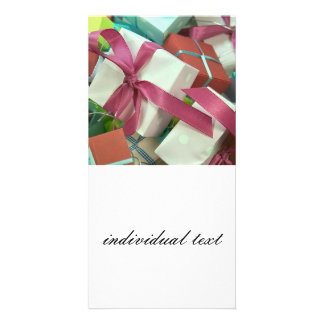 many gifts photo greeting card