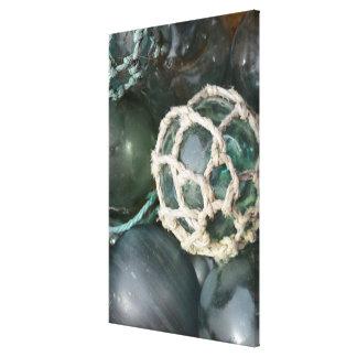 Many glass fishing floats, Alaska Canvas Print