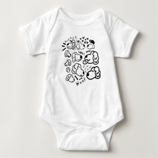 Many Golden Retrievers Baby Bodysuit