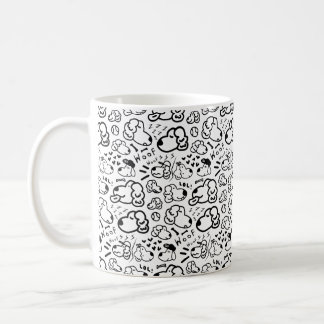 Many Golden Retrievers Pattern Coffee Mug