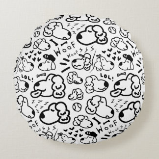 Many Golden Retrievers Pattern Round Cushion