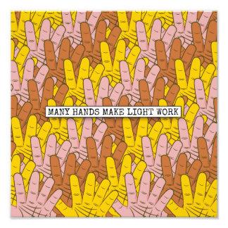 Many Hands Make Light Work Pattern Photo Print