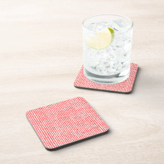 many hearts (red) beverage coasters