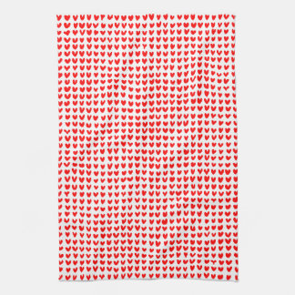 many hearts(red) kitchen towel