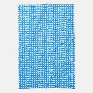 many hearts(white) tea towel