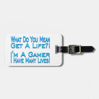 Many Lives Gamer Travel Bag Tag