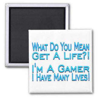Many Lives Square Magnet