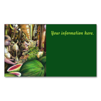 Many Men, Many Melons, Budapest Magnetic Business Cards