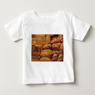 Many mixed breads and rolls background baby T-Shirt