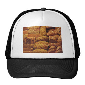 Many mixed breads and rolls background cap