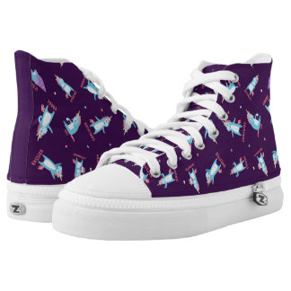 Many Moods of a Pink, Blue, and Purple Unicorn High Tops