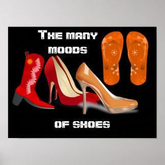 Many Moods of Shoes - art print