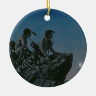 Many Moons Ago Round Ceramic Decoration