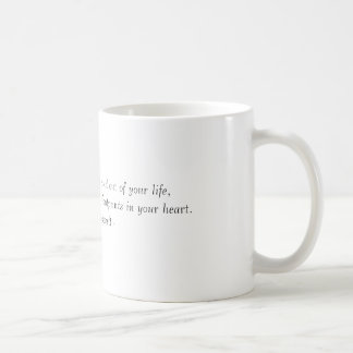 Many people will walk in and out of your life, ... basic white mug