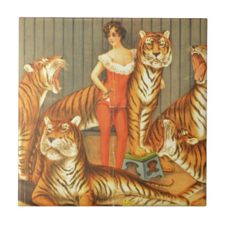 Many Pet Tigers Ceramic Tile
