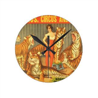 Many Pet Tigers Round Clock