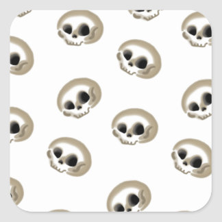 Many skulls sticker