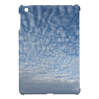 Many soft clouds against blue sky background case for the iPad mini