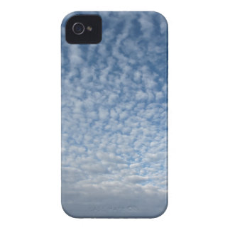 Many soft clouds against blue sky background iPhone 4 case