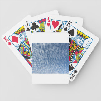 Many soft little clouds against sky background bicycle playing cards