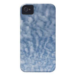 Many soft little clouds against sky background iPhone 4 cover