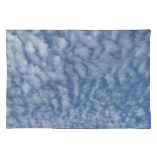 Many soft little clouds against sky background placemat
