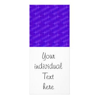 many stars,blue full colour rack card