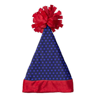many stars blue santa hat
