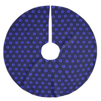 many stars blue brushed polyester tree skirt