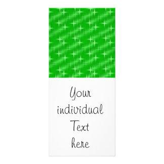 many stars, neon green customized rack card