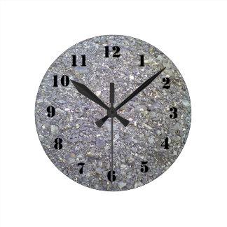 Many Stone Round Clock