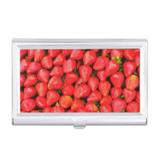 Many Strawberries! Business Card Holder