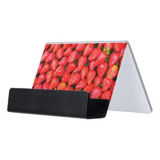 Many Strawberries! Desk Business Card Holder