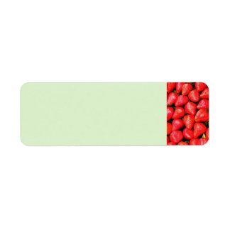 Many Strawberries! Return Address Label