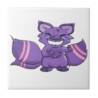 Many Tailed Fairytale Fox Small Square Tile