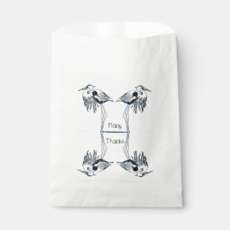 Many Thanks Herons Favour Bags