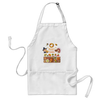 Many Thanks Pilgrim And Native Thanksgiving Feast Standard Apron