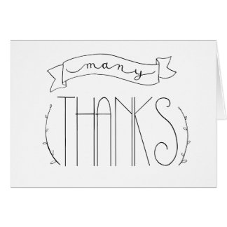 Many Thanks Thank You Card