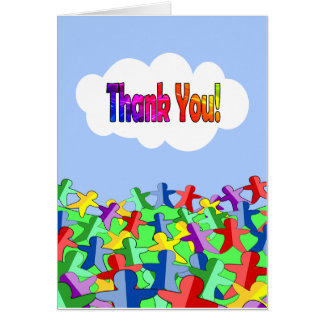 Many Thanks, with Lots of Fun Paper Dolls Card