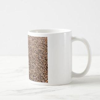 Many whole coffee beans with South America globe Coffee Mug