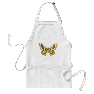 MANYTHANKS BUTTERFLY GRAPHIC BROWNS CREAMS LOVELY APRONS