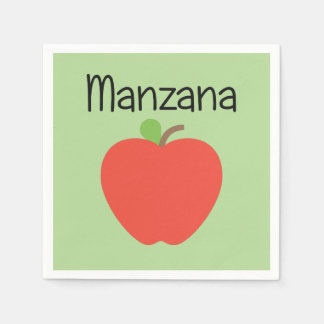 Manzana (Apple) Green Disposable Serviettes