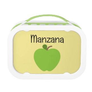 Manzana (Apple) Green Lunch Box