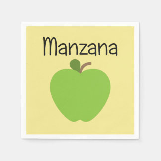 Manzana (Apple) Green Paper Serviettes