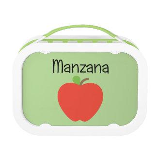 Manzana (Apple) Red Lunch Box