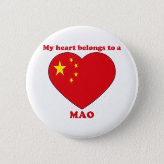 Mao 6 Cm Round Badge