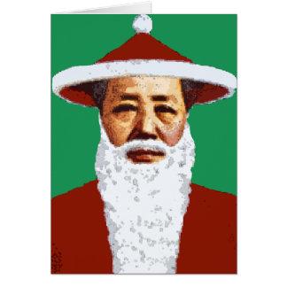 Mao Merry Christmas Chinese Pop Art Santa Claus Card